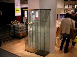 IKEA,棚,キャビネット,ガラス扉,DETOLF